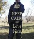 KEEP CALM AND Love Nicu - Personalised Tea Towel: Premium