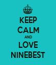 KEEP CALM AND LOVE NINEBEST - Personalised Tea Towel: Premium