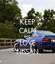 KEEP CALM AND LOVE NISSAN - Personalised Tea Towel: Premium