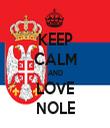 KEEP CALM AND LOVE NOLE - Personalised Tea Towel: Premium