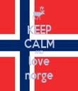 KEEP CALM AND love norge - Personalised Tea Towel: Premium