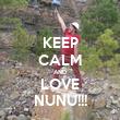 KEEP CALM AND LOVE NUNU!!! - Personalised Tea Towel: Premium