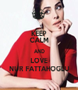 KEEP CALM AND LOVE NUR FATTAHOGLU - Personalised Tea Towel: Premium