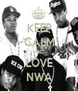 KEEP CALM AND LOVE NWA - Personalised Tea Towel: Premium