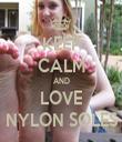 KEEP CALM AND LOVE NYLON SOLES - Personalised Tea Towel: Premium
