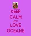 KEEP CALM AND LOVE OCEANE - Personalised Tea Towel: Premium