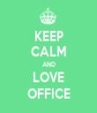 KEEP CALM AND LOVE OFFICE - Personalised Tea Towel: Premium