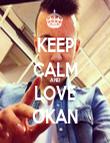 KEEP CALM AND LOVE OKAN - Personalised Tea Towel: Premium