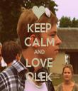 KEEP CALM AND LOVE OLEK - Personalised Tea Towel: Premium