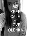 KEEP CALM AND LOVE OLENKA - Personalised Tea Towel: Premium