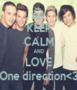 KEEP CALM AND LOVE One direction<3 - Personalised Tea Towel: Premium
