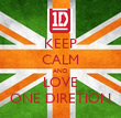 KEEP CALM AND LOVE ONE DIRETION - Personalised Tea Towel: Premium