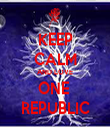KEEP CALM AND LOVE ONE  REPUBLIC - Personalised Tea Towel: Premium