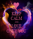 KEEP CALM AND LOVE ONLY YOU - Personalised Tea Towel: Premium