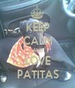 KEEP CALM AND LOVE PATITAS - Personalised Tea Towel: Premium