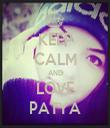 KEEP CALM AND LOVE PATYA - Personalised Tea Towel: Premium