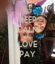 KEEP CALM AND LOVE PAY - Personalised Tea Towel: Premium