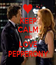 KEEP CALM AND LOVE PEPPERONY - Personalised Tea Towel: Premium