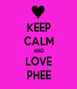 KEEP CALM AND LOVE PHEE - Personalised Tea Towel: Premium