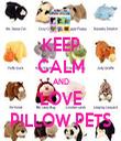 KEEP CALM AND LOVE PILLOW PETS - Personalised Tea Towel: Premium