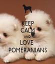 KEEP CALM AND LOVE  POMERANIANS - Personalised Tea Towel: Premium