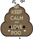 KEEP CALM AND LOVE POO  - Personalised Tea Towel: Premium