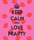 KEEP CALM AND LOVE PRAPTY - Personalised Tea Towel: Premium