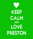 KEEP CALM AND LOVE PRESTON - Personalised Tea Towel: Premium