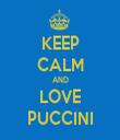 KEEP CALM AND LOVE PUCCINI - Personalised Tea Towel: Premium