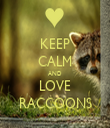 KEEP CALM AND LOVE RACCOONS - Personalised Tea Towel: Premium
