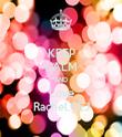 KEEP CALM AND Love Rachel.CEJ - Personalised Tea Towel: Premium