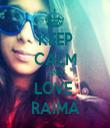 KEEP CALM AND LOVE  RAIMA - Personalised Tea Towel: Premium