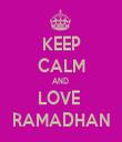 KEEP CALM AND  LOVE  RAMADHAN - Personalised Tea Towel: Premium
