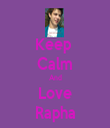 Keep  Calm And Love Rapha - Personalised Tea Towel: Premium