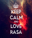 KEEP CALM AND LOVE RASA - Personalised Tea Towel: Premium