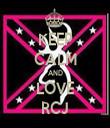 KEEP CALM AND LOVE RCJ - Personalised Tea Towel: Premium