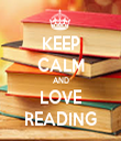 KEEP CALM AND LOVE READING - Personalised Tea Towel: Premium
