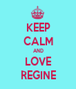 KEEP CALM AND LOVE REGINE - Personalised Tea Towel: Premium