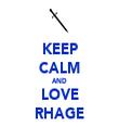 KEEP CALM AND LOVE RHAGE - Personalised Tea Towel: Premium