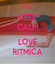 KEEP CALM AND LOVE RITMICA - Personalised Tea Towel: Premium