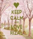 KEEP CALM AND LOVE RIZAL - Personalised Tea Towel: Premium