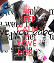 KEEP CALM AND LOVE ROBI  - Personalised Tea Towel: Premium