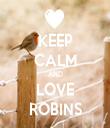 KEEP CALM AND LOVE ROBINS - Personalised Tea Towel: Premium