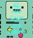 KEEP CALM AND LOVE  ROBOTS - Personalised Tea Towel: Premium