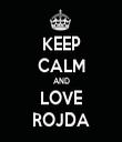 KEEP CALM AND LOVE ROJDA - Personalised Tea Towel: Premium