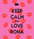KEEP CALM AND LOVE RONA - Personalised Tea Towel: Premium