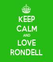 KEEP CALM AND LOVE RONDELL - Personalised Tea Towel: Premium