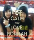 KEEP CALM AND LOVE  RONNAH - Personalised Tea Towel: Premium