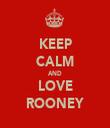 KEEP CALM AND LOVE ROONEY - Personalised Tea Towel: Premium