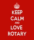 KEEP CALM AND LOVE  ROTARY - Personalised Tea Towel: Premium